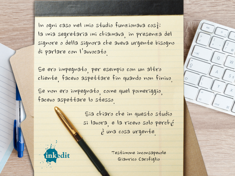 Thank God It's Friday – Testimone inconsapevole – Gianrico Carofiglio